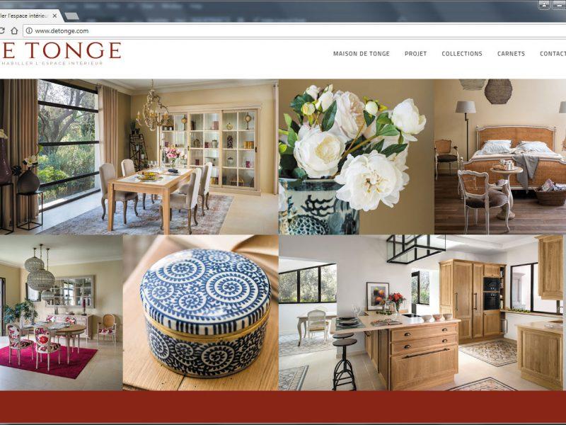Capture d'écran www.detonge.com