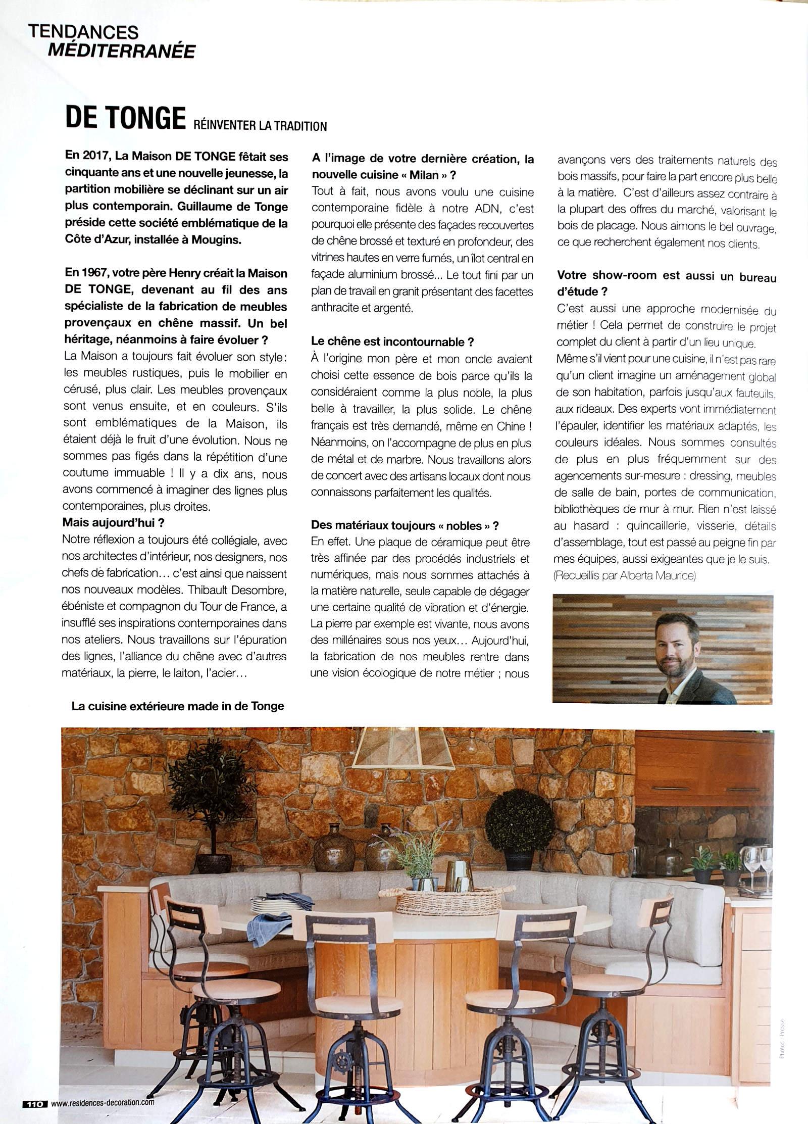 Article Résidences Décoration